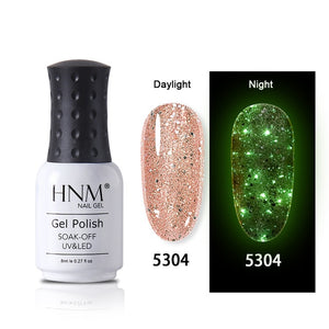 MilkySkinForever 8ML Luminous Rose Gold Nail Gel Polish Night Glow In Dark Fluorescent Dreamlike Lacquer Soak Off Varnish UV LED Long Lasting