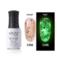 Load image into Gallery viewer, MilkySkinForever 8ML Luminous Rose Gold Nail Gel Polish Night Glow In Dark Fluorescent Dreamlike Lacquer Soak Off Varnish UV LED Long Lasting