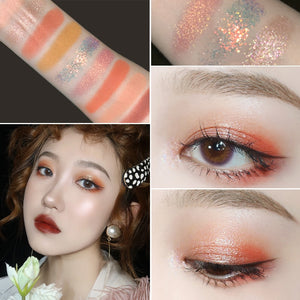 MilkySKinForever 9 Colors Glitter Galaxy Eyeshadow Shimmer Matte Smoky Makeup Palette Pigmented Eye Shadow Shine Diamond Shadow Kit