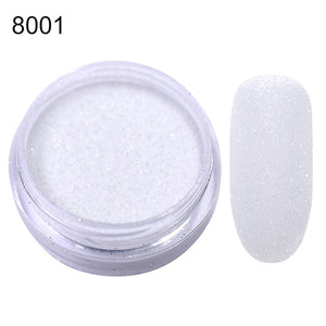 MilkySkinForever 1Box Sugar Nail Powder  Glitter Nail Dust Powder Laser Gradient Nail Pigment  Glitter Nail Art Decoration