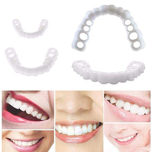 Load image into Gallery viewer, MilkySkinForever 2pcs Snap On Smile Teeth Veneers Whitening Cosmetic Denture Instant Perfect Smile Teeth Fake Tooth Cover Oral Hygiene Tools