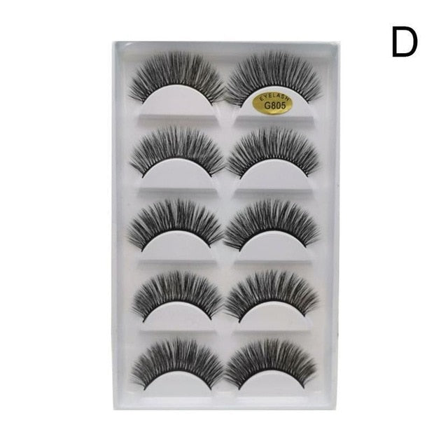 MilkySkinForever 5 Pairs Eye Lashes Hand Made Natural fake eyelashes 3d Mink Lashes Soft Dramatic Eye Lashes For Makeup Cilios Mink Maquiagem