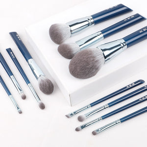 MilkySkinForever makeup brush-The Sky Blue 11pcs super soft fiber makeup brushes set-high quality face&eye cosmetic pens-synthetic hair