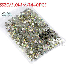 Load image into Gallery viewer, MilkySkinForever High light AAA rhinestone crystal AB clear SS3-SS40(1.3mm-8.4mm) Non Hotfix flatback Rhinestones for Nails 3D nail art  gems045
