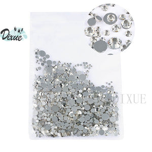 MilkySkinForever High light AAA rhinestone crystal AB clear SS3-SS40(1.3mm-8.4mm) Non Hotfix flatback Rhinestones for Nails 3D nail art  gems045