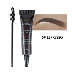 MilkySkinForever 10ml Eyebrow Cream Tattoo Pen with Brush Kit Waterproof Women Makeup Eyebrows Tint Enhancer Gel Eye Brow Dye Cosmetics
