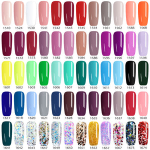 MilkySkinForever color Gel Paint uv Nail Gel Soak Off Nail Art led nail lacquer 60 colors glitter rainbow Painting Gel nail polish