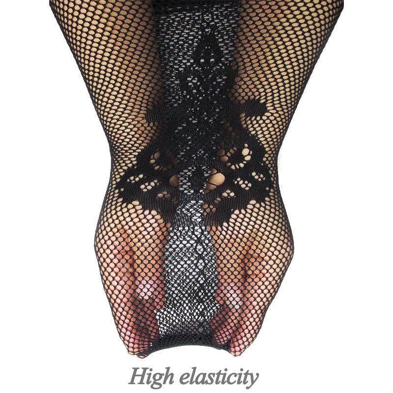 MilkySkinForever Women Sexy Lingerie Stripe Elastic Stockings Transparent Black Fishnet Thigh Sheer Tights Embroidery Pantyhose Hot 2019 Summer