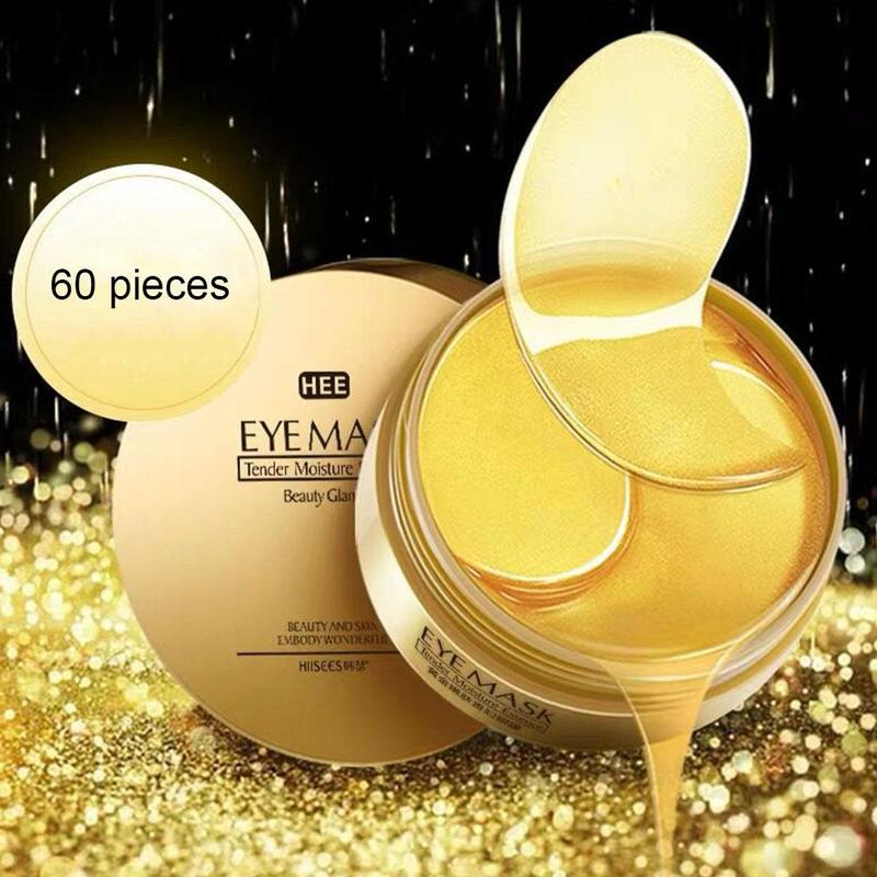MilkySkinForever 60pcs Gold/Seaweed Collagen Eye Mask Face Anti Wrinkle Gel Sleep Gold Mask Eye Patches Collagen Moisturizing Eye Mask Eye Care