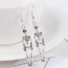 Load image into Gallery viewer, MilkySkinForever Halloween Vintage Skeleton Skull Dangle Earrings for Women Jewelry Party Gifts Aretes De Mujer Modernos 2019