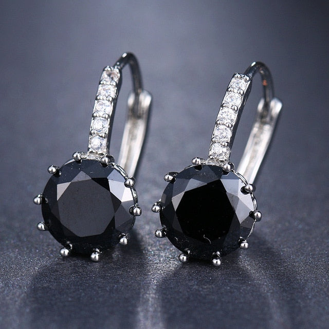MilkySkinForever Fashion 10 Colors AAA CZ Element Stud Earrings For Women Wholesale Chea Factory Price