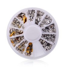 Load image into Gallery viewer, MilkySkinForever DIY Nail Art Wheel Tips Crystal Glitter Rhinestone 3D Nail Art Decoration white AB Color Acrylic Diamond Drill