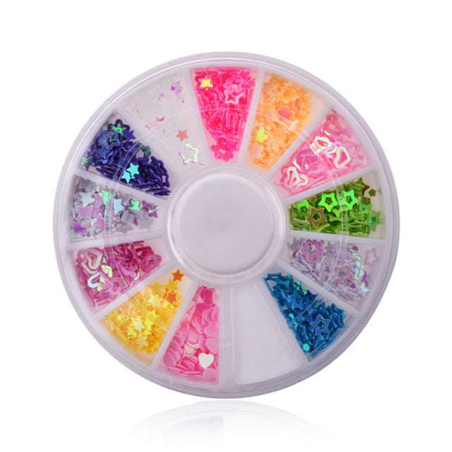 MilkySkinForever DIY Nail Art Wheel Tips Crystal Glitter Rhinestone 3D Nail Art Decoration white AB Color Acrylic Diamond Drill
