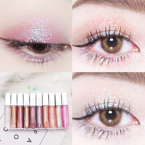 MilkySKinForever 10 Color Diamond Eye Shadow Nude Metal Shimmer Glow Glitter Single Liquid Eyeshadow Makeup Pigment Accessorices Beauty Cosmetics