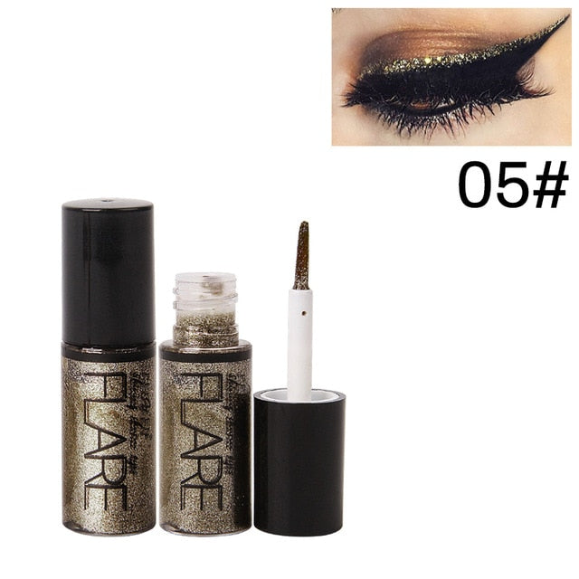 MilkySKinForever Professional Makeup Silver Rose Gold Color Liquid Glitter Eyeliner Shiny Eye Liners Women Eye Pigment Korean Cosmetic Waterproof