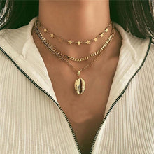 Load image into Gallery viewer, MilkySkinForever Boho Multi-element Crystal Necklaces For Women Fashion Gold Necklace Vintage Multiple Layers Pendant Necklace Jewelry Gift