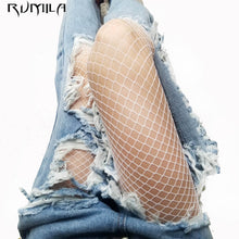 Load image into Gallery viewer, MilkySkinForever fashion white medium grid women high waist stocking fishnet club tights panty knitting net pantyhose trouser mesh lingerie