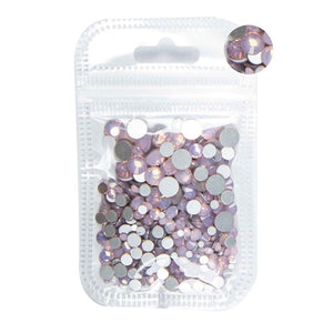 MilkySkinForever 350pcs 5Gram Mixed Size ss3-ss30 Blue/Green/Pink/White Opal 3D Crystal Nails Art Rhinestone,Flatback Glass Nail art Decoration
