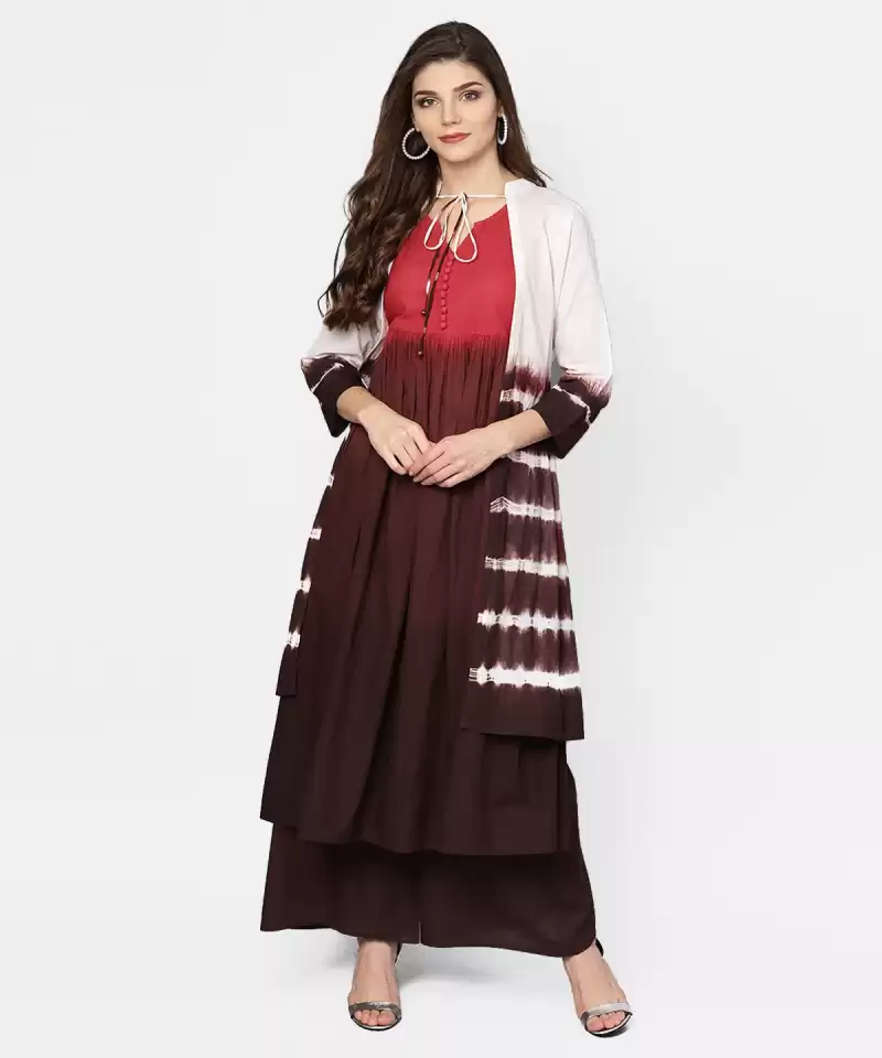 Women Kurta and Skirt Set Cotton Blend