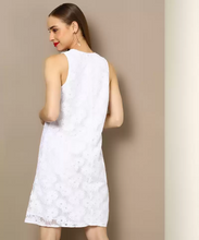 Load image into Gallery viewer, Women A-line White Party Wear Dress