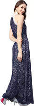 Load image into Gallery viewer, Women Fit and Flare Dark Blue Dress
