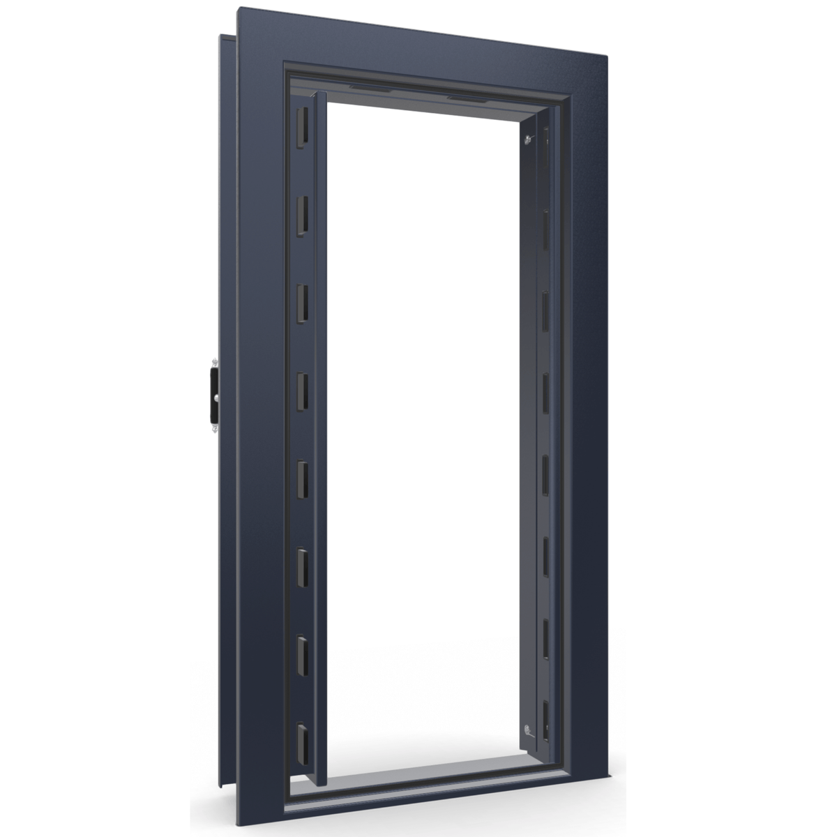 Vault Door Series | Out-Swing | Left Hinge | Blue Gloss | Electronic Lock