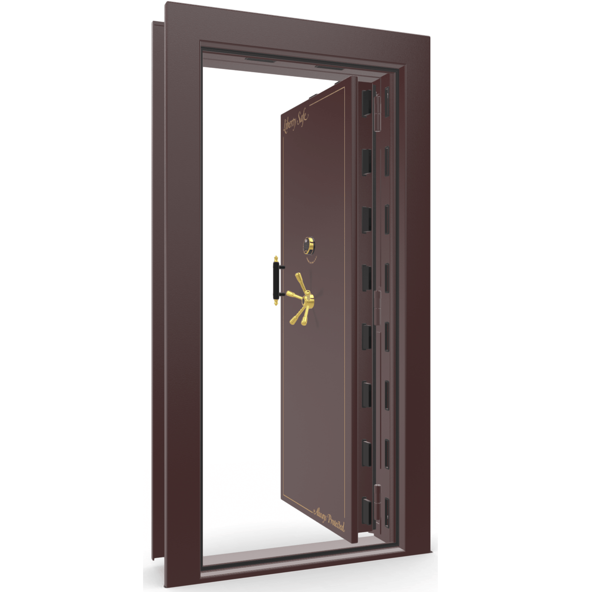 Vault Door Series | In-Swing | Right Hinge | White Marble | Electronic Lock