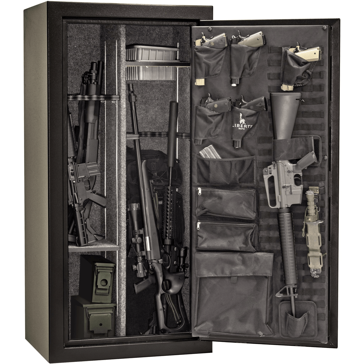 "Tactical | 24 | 30 Minute Fire Protection | Black | Black Electronic Lock | 59.5""(H) x 28.25""(W) x 22""(D)"