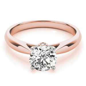 This elegant tapered cathedral solitaire is a timeless engagement ring design.
