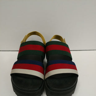 Primary Photo - BRAND: GUCCI STYLE: SANDALS HIGH COLOR: STRIPED SIZE: 8 OTHER INFO: 38 SKU: 305-30511-20157