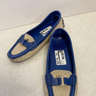 Primary Photo - BRAND: TORY BURCH STYLE: SHOES FLATS COLOR: BLUE WHITE SIZE: 7.5 OTHER INFO: GOLD BUCKLE SKU: 305-30549-1811