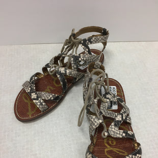 Primary Photo - BRAND: SAM EDELMAN STYLE: SANDALS FLAT COLOR: SNAKESKIN PRINT SIZE: 7.5 SKU: 305-30511-19553