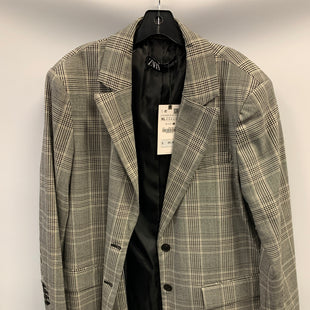 Primary Photo - BRAND: ZARA BASIC STYLE: COAT SHORT COLOR: PLAID SIZE: XL OTHER INFO: NWT-WHT/BLK SKU: 305-30511-20194