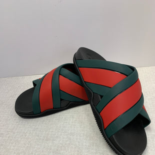 Primary Photo - BRAND: GUCCI STYLE: SHOES DESIGNER COLOR: RED GREEN SIZE: 7 MEN (10 WOMEN'S)SKU: 305-30511-19996