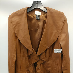 Primary Photo - BRAND: NEIMAN MARCUS STYLE: JACKET LEATHER COLOR: BROWN SIZE: L SKU: 305-30511-19985