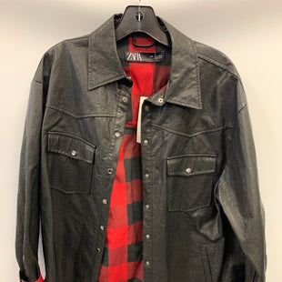 Primary Photo - BRAND: ZARA BASIC STYLE: JACKET LEATHER COLOR: BLACK SIZE: L OTHER INFO: PLAID-RED/BLK SKU: 305-30511-20215