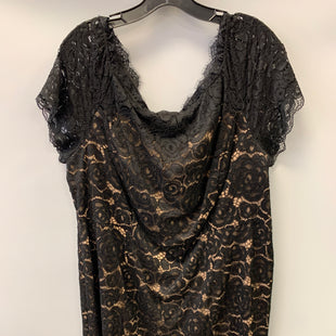 Primary Photo - BRAND: ADRIANNA PAPELL STYLE: DRESS SHORT SHORT SLEEVE COLOR: BLACK SIZE: 20 OTHER INFO: BLACK LACE OVER NUDE SKU: 305-30549-2183