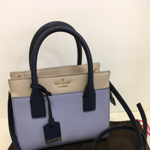 Primary Photo - BRAND: KATE SPADE STYLE: HANDBAG LEATHER COLOR: BLUE WHITE SIZE: SMALL SKU: 305-30511-19531