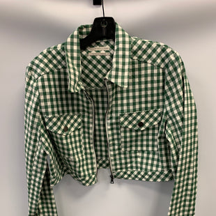 Primary Photo - BRAND: URBAN OUTFITTERS STYLE: BLAZER JACKET COLOR: PLAID SIZE: L OTHER INFO: GRN-WHT SKU: 305-30511-20213