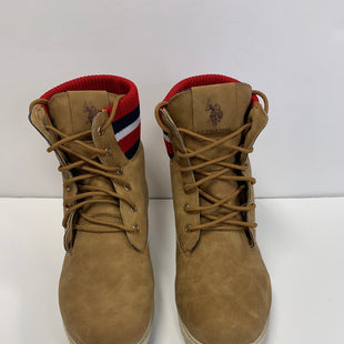 Primary Photo - BRAND: RALPH LAUREN STYLE: BOOTS ANKLE COLOR: TAN SIZE: 11 OTHER INFO: RED WHITE BLUE SKU: 305-30512-22839