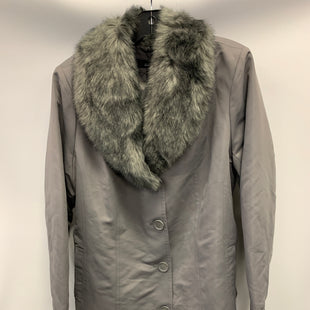 Primary Photo - BRAND: DENNIS BASSO QVC STYLE: JACKET OUTDOOR COLOR: GREY SIZE: L OTHER INFO: FUR COLLAR SKU: 305-30549-2495