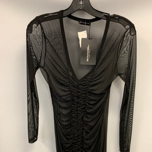 Primary Photo - BRAND:    CLOTHES MENTOR STYLE: DRESS SHORT LONG SLEEVE COLOR: SHEER SIZE: 8 OTHER INFO: PRETTY LITTLE THINGS - BLK SKU: 305-30511-20164