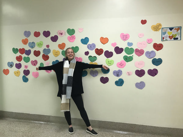 The Confetti Hearts Mural Goes to School