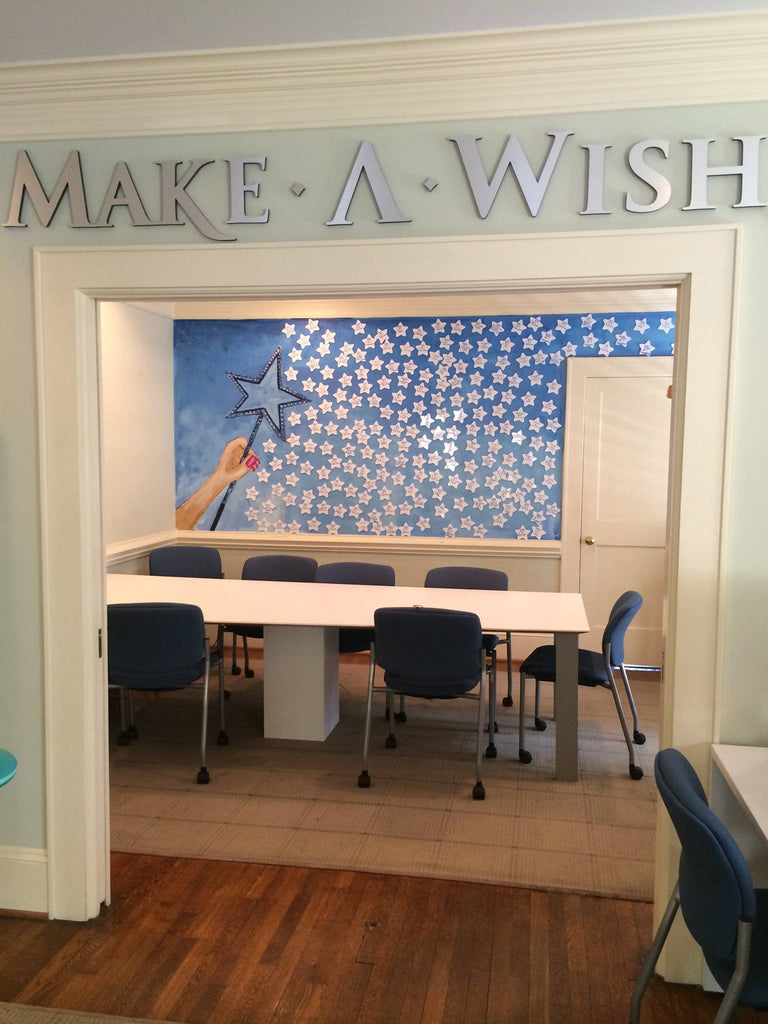 Mural for Make-A-Wish CWNC by Evelyn Henson