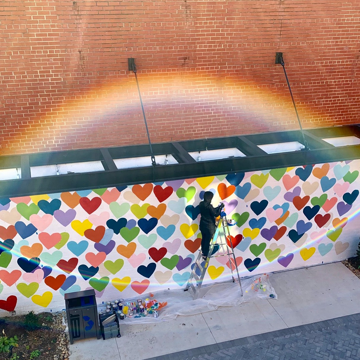 Evelyn Henson #ConfettiHeartsWall | The Design District in Southend Charlotte, NC