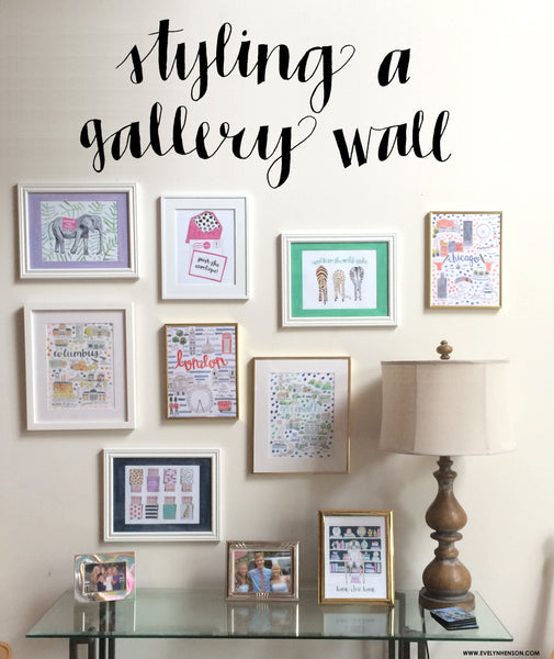 Gallery Wall Tips from www.evelynhenson.com #behindthepalette