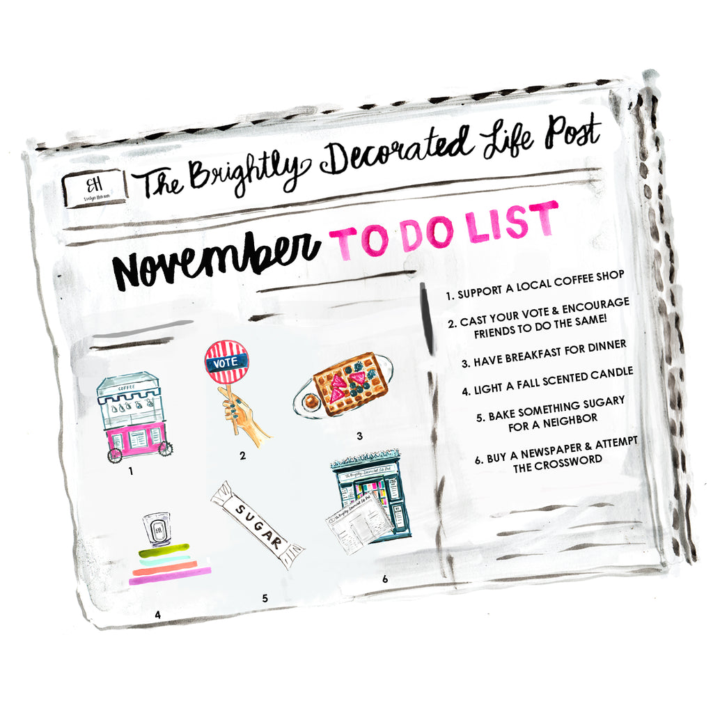november to do list www.evelynhenson.com
