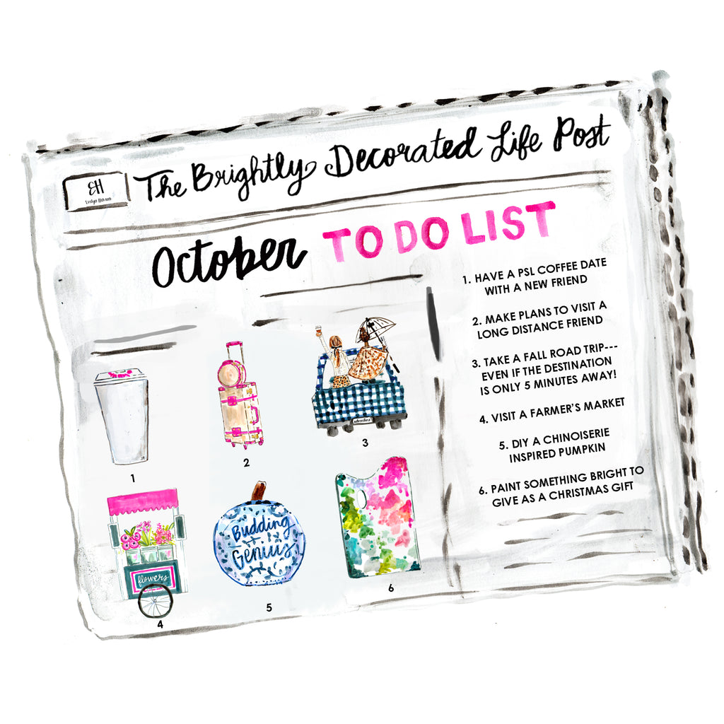 october to do list // www.evelynhenson.com