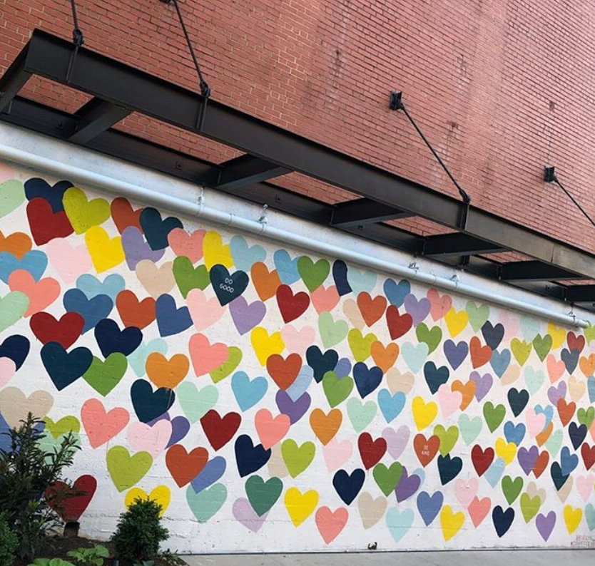 Evelyn Henson #confettiHEARTSwall Charlotte NC Guide