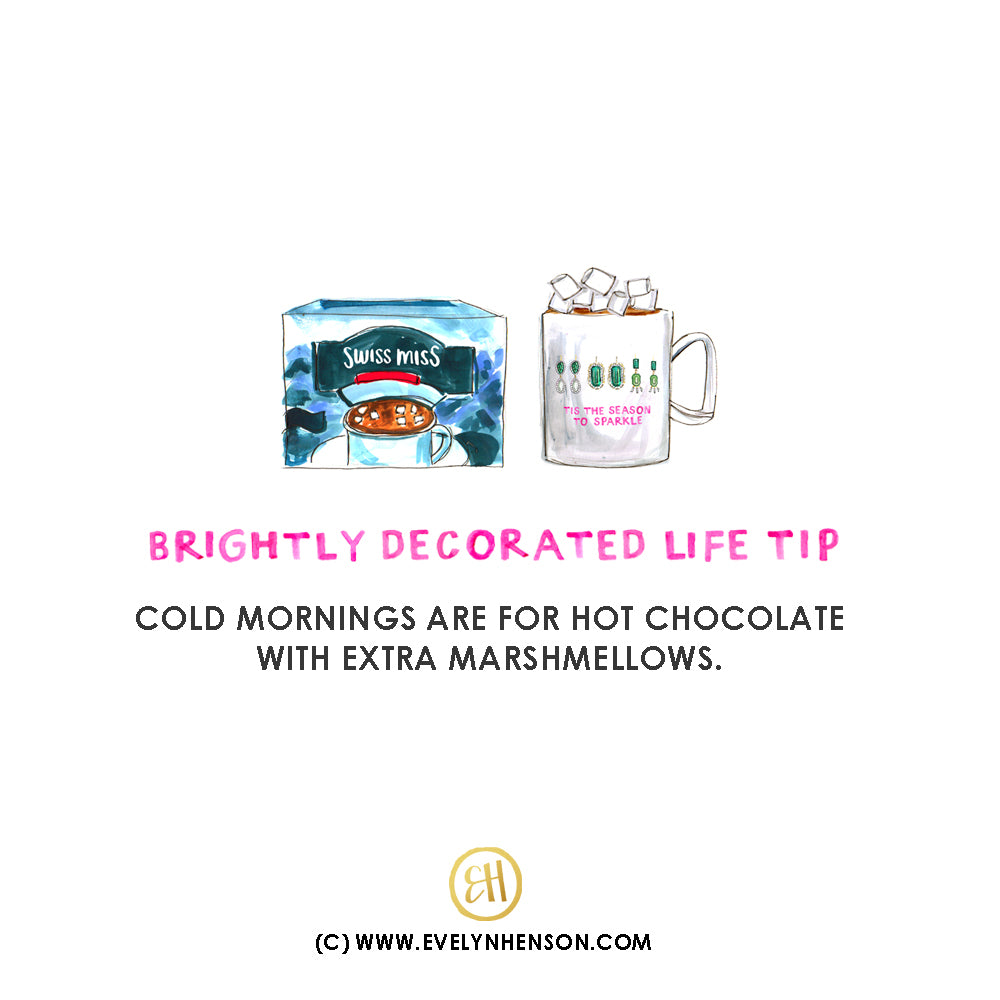 cold mornings are for hot chocolate with extra marshmellows! (C) www..evelynhenson.com